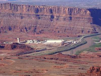 Intrepid Potash mine from Amasa Back trail